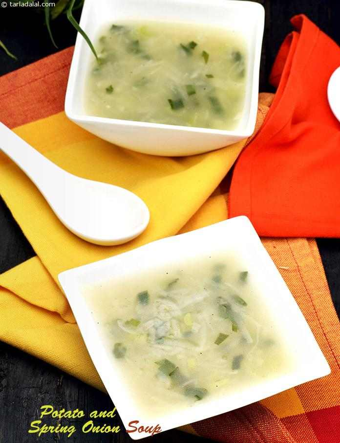 Potato and Spring Onion Soup (  Cooking Under 10 Minutes )