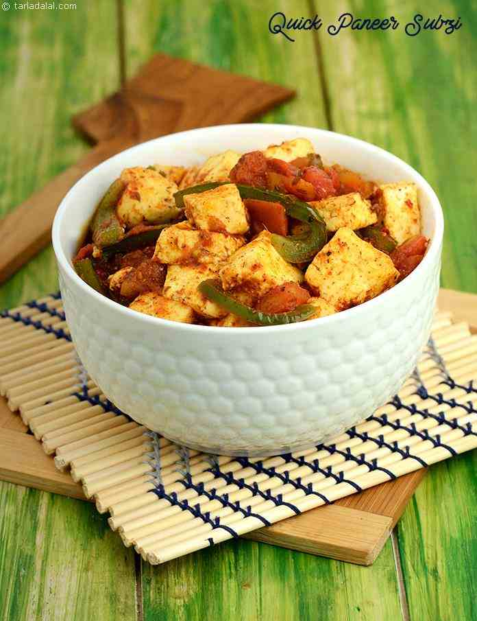 Quick paneer subzi recipe jain paneer subzi recipes by tarla a delectable blend of flavours and textures makes this quick paneer subzi a great hit forumfinder Image collections