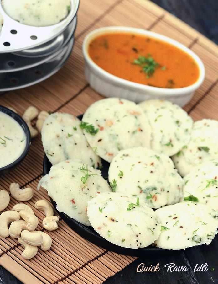 Quick rava idli tiffin treats recipe by tarla dalal by tarla dalal quick rava idli tiffin treats forumfinder Choice Image