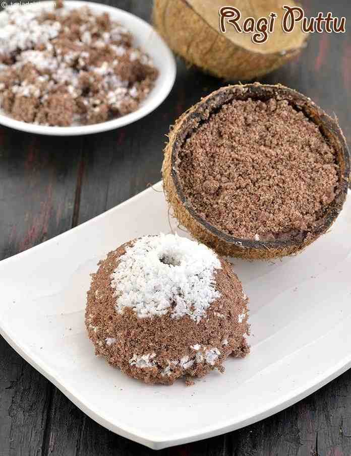 Ragi Puttu, Healthy Kerala Homemade Ragi Puttu for Breakfast Recipe