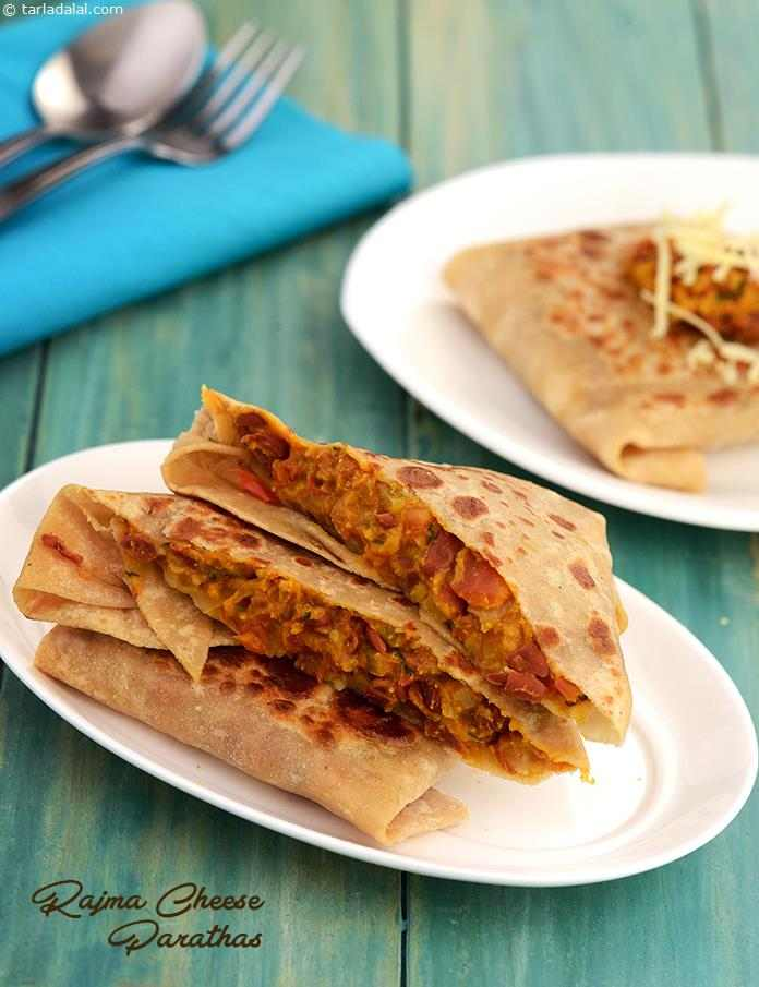 Rajma Cheese Parathas ( Calcium Rich)
