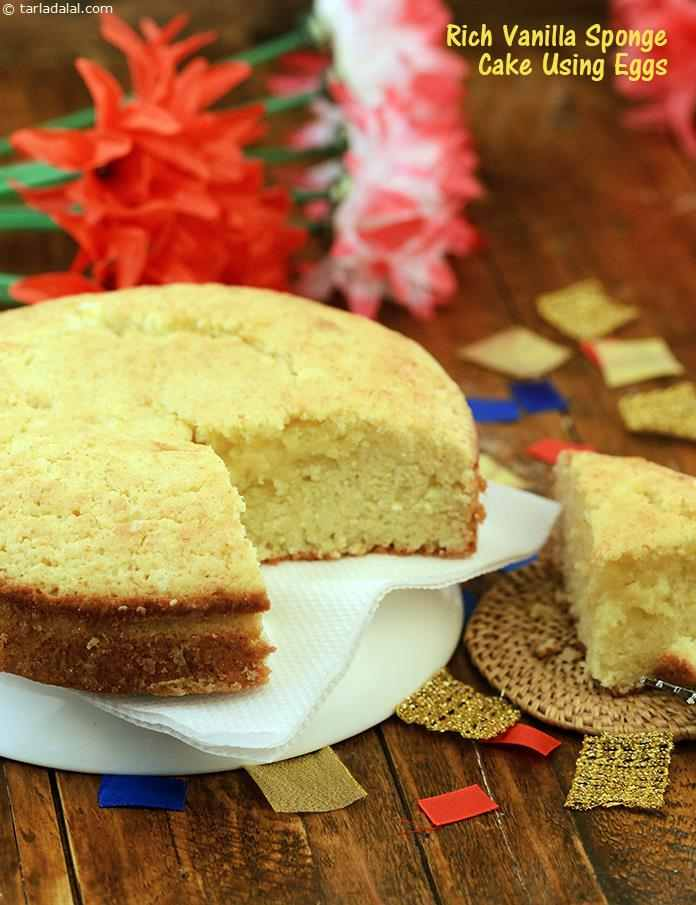 A vanilla sponge cake always comes in handy, as it is subtle in nature, allowing the other ingredients in the final creation – be it a fruity sauce, an elaborate decoration, or even an Indian mithai – to stand out and take the bow.