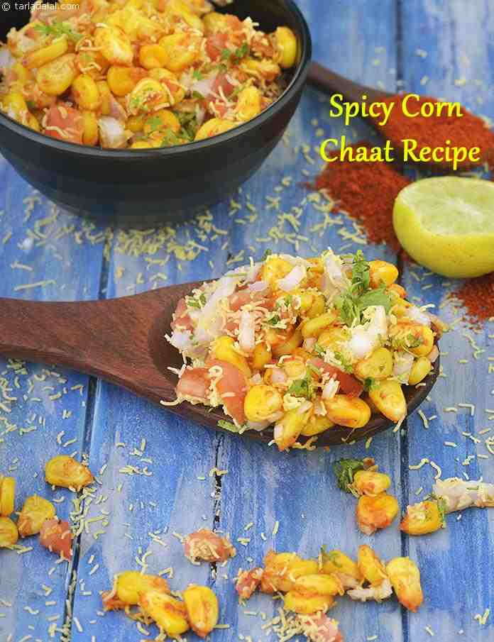 Spicy Corn Chaat Recipe Masala Corn Recipe Spicy Sweet Corn Chaat