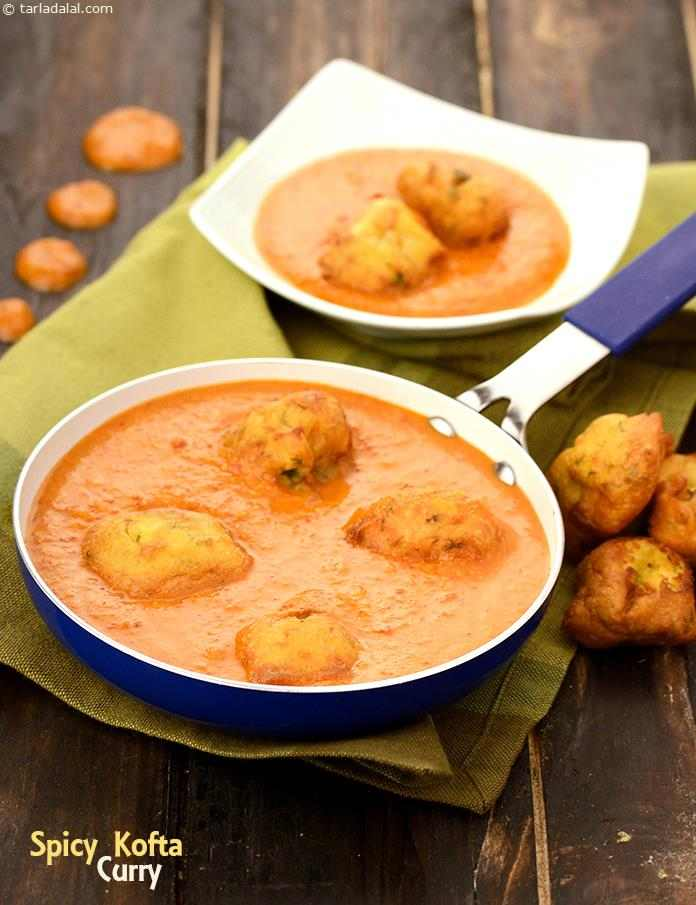 A tomato based purée jazzed up with a spicy masala paste becomes home to  mouth-watering koftas, in this Spicy Kofta Curry.