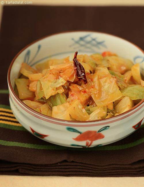 Stir Fried Cabbage with Schezuan Peppers