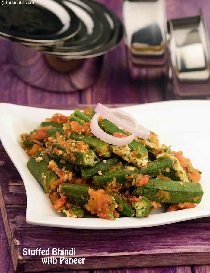 What makes the Stuffed Bhindis with Paneer all the more delightful is the thoughtful combination of spices, tomatoes and onions, which makes the dish extremely aromatic and tasty.