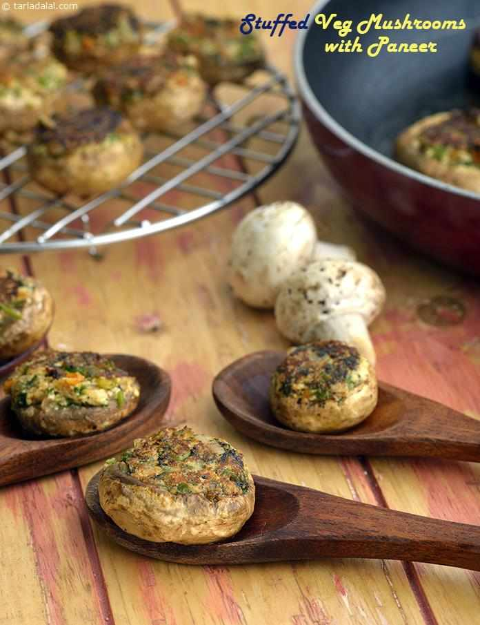 Stuffed Mushroom with Paneer