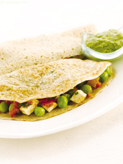 Stuffed Wheat Dosa ( Weight Loss During Pregnancy )