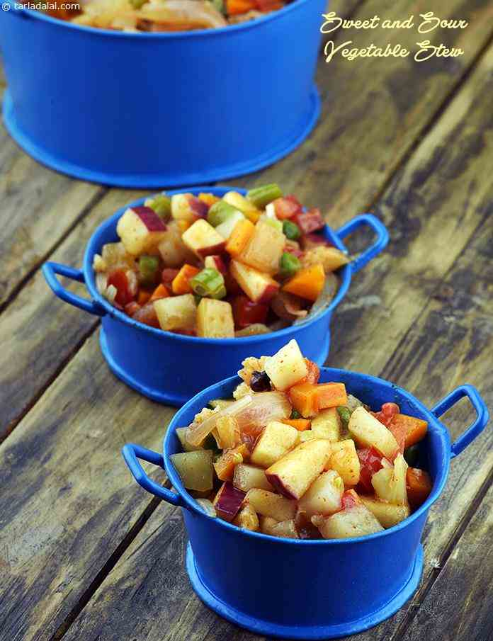 Sweet and Sour Vegetable Stew, Microwave Recipe