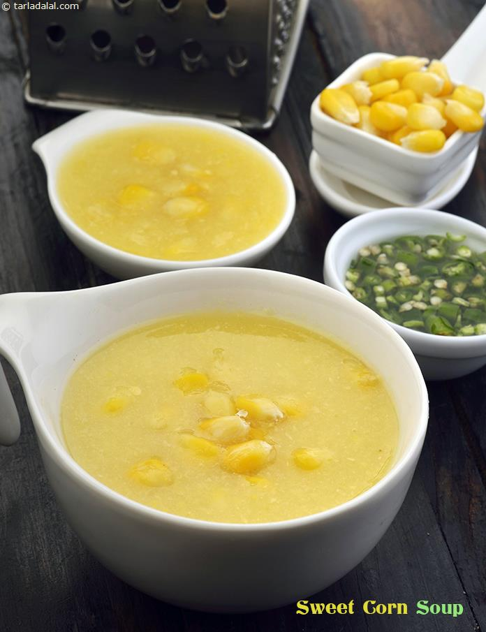Sweet Corn Soup (  Cooking Under 10 Minutes )