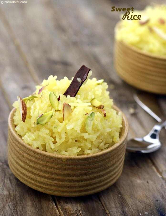 Sweet rice recipe indian recipes by tarla dalal tarladalal you do not need to prepare any syrup for this version of sweet rice as forumfinder Images
