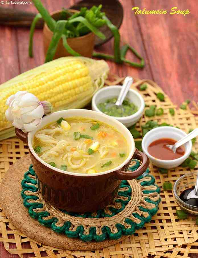 Talumein soup indo chinese veg and noodle soup recipe chinese a veggie packed soup with an amazingly balanced flavour the talumein soup is a forumfinder