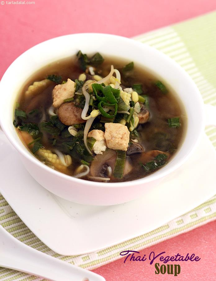 Thai Vegetable Soup, a light lemon grass flavoured thai style soup packed with a wealth of all b vitamins.