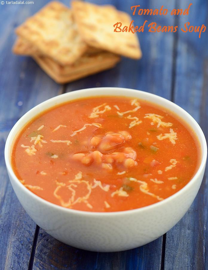 Calories Of Tomato And Baked Beans Soup Tarladalal Com