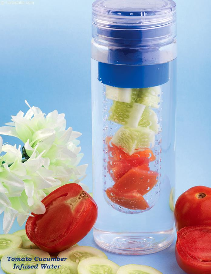 Tomato Cucumber Infused Water
