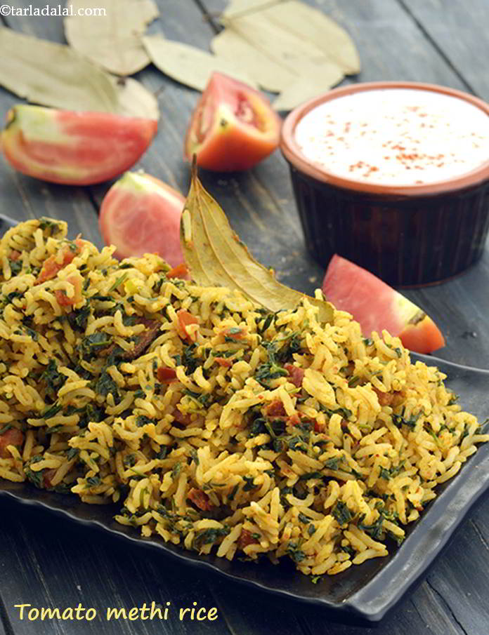 Tomato Methi Rice ( Iron Rich Recipe )
