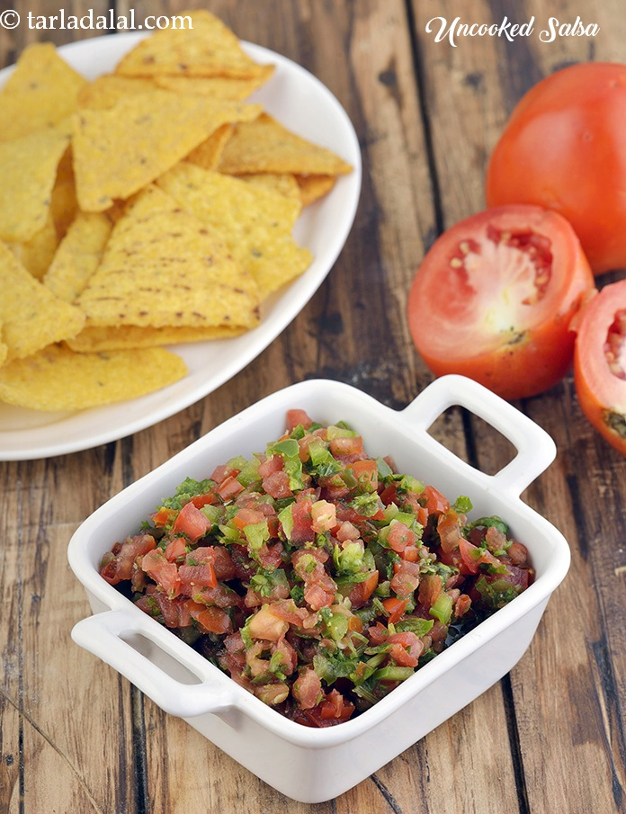 Uncooked salsa jain salsa recipe by tarla dalal tarladalal uncooked salsa jain salsa forumfinder Image collections