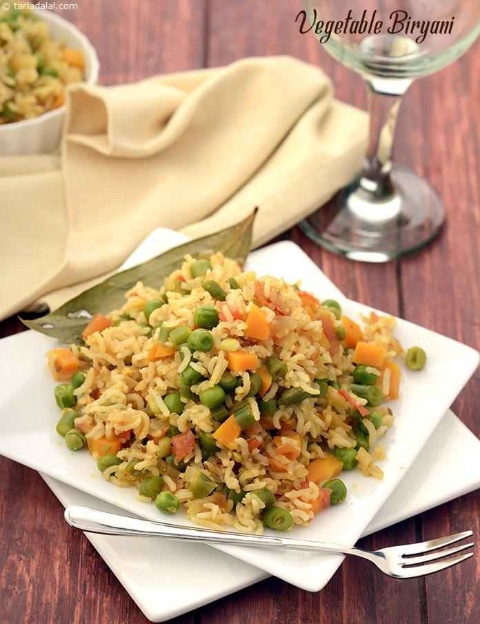 With aromatic spices and an assortment of veggies, this low-cal Vegetable Biryani is sure to pamper your taste buds as well as satiate you.