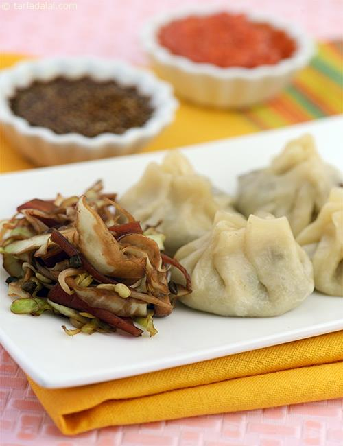 Vegetable dumplings are popularly called dim sums. To making perfect dumplings, ensure that the outer covering is rolled very thinly.