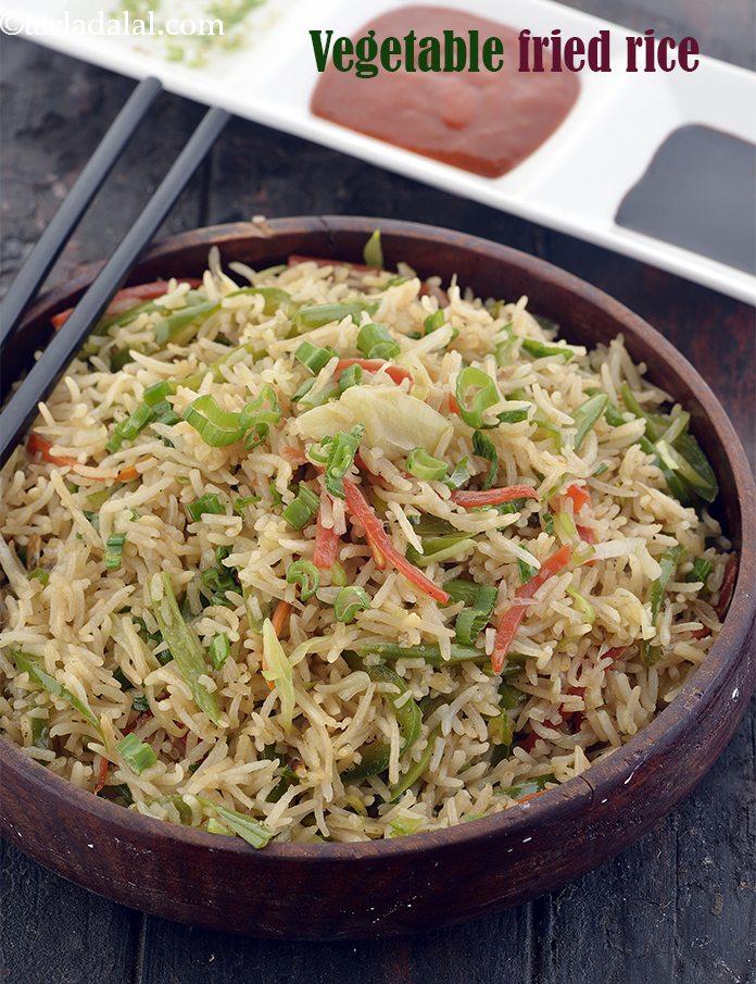Chinese Vegetable Fried Rice Recipe Veg Chinese Fried Rice