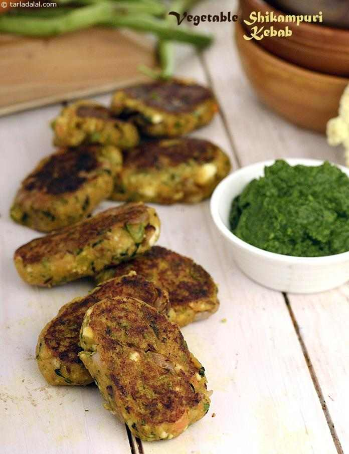 Vegetable Shikampuri Kebab (  Kebabs and Tikkis Recipes)