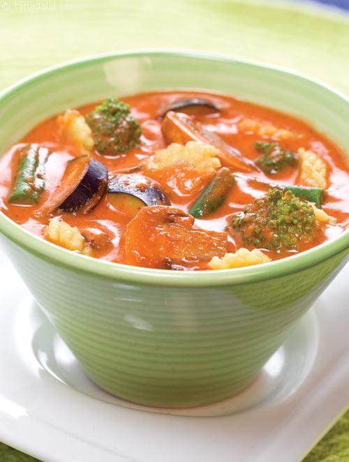 Vegetables in Thai Red Curry recipe | by Tarla Dalal ...
