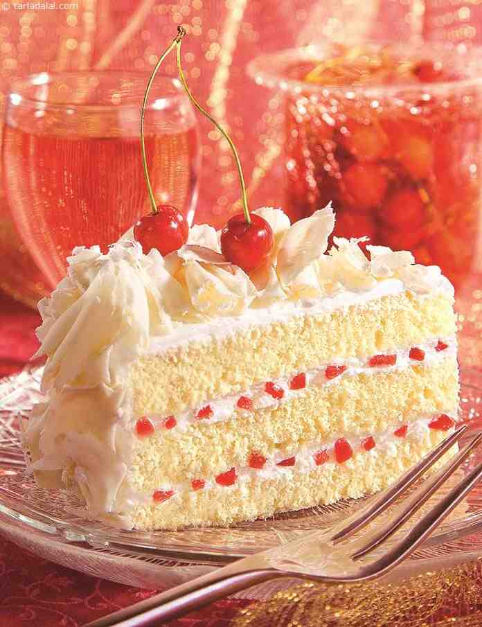 White Forest Cake Images