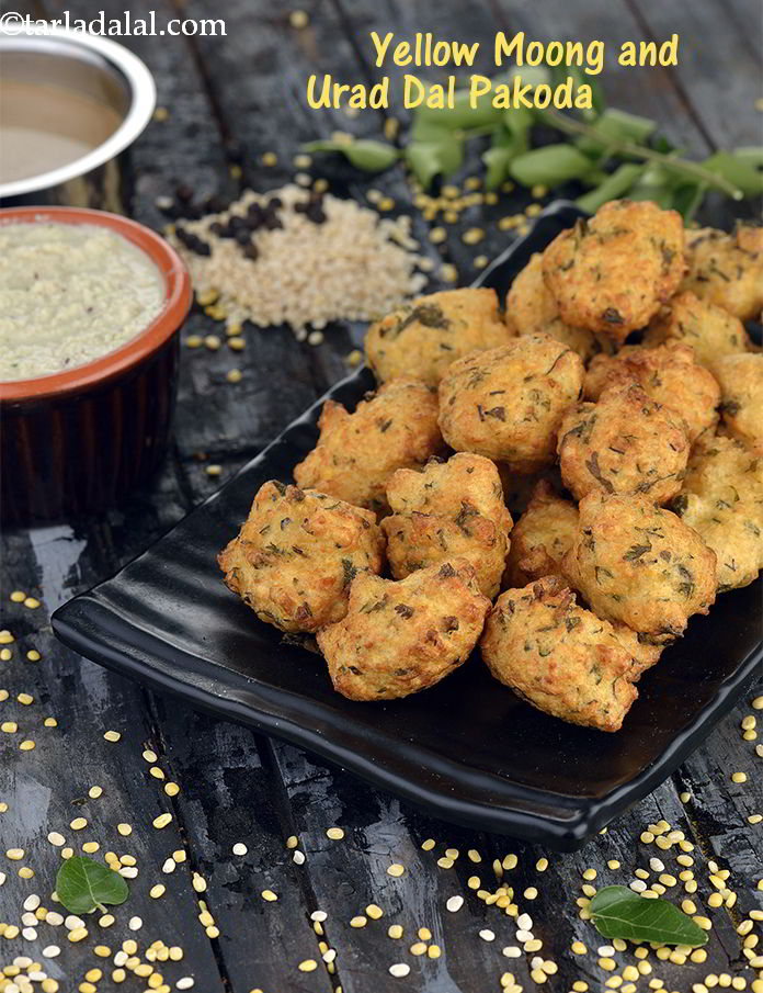 Yellow Moong and Urad Dal Pakoda