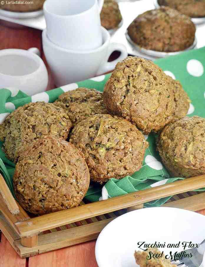 Zucchini And Flax Seed Muffins
