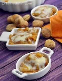 Apricot Stew with Vanilla Custard