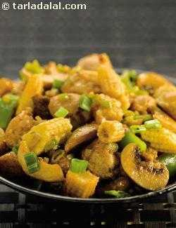 Baby Corn and Soya Stir-fry