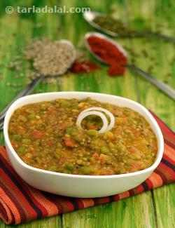 Bajra, Whole Moong and Green Pea Khichdi