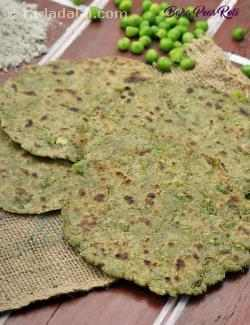 Bajra Peas Roti, Low Acidity Recipe