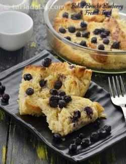Baked Brioche Blueberry French Toast