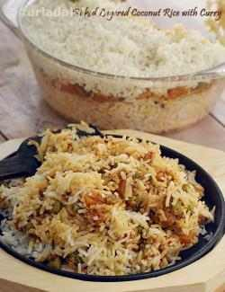 Baked Layered Coconut Rice with Curry