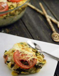 Baked Spinach with Corn