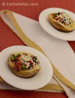 Spicy Stuffed Baked Potatoes