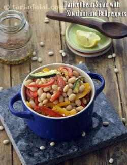 Haricot Bean Salad with Zucchini and Bellpeppers