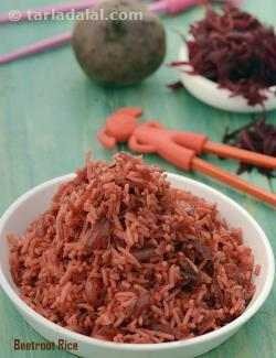 Beetroot Rice ( Tiffin Treats)