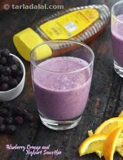 Blueberry Orange and Yoghurt Smoothie