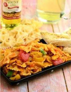 Bow Pasta with Curried Vegetables