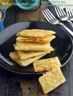 Cabbage Carrot and Paneer Samosa Patti Snack