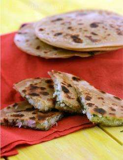 Cabbage and Paneer Parathas