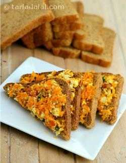 Carrot and Paneer Toast