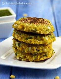 Chana Dal and Cabbage Tikki
