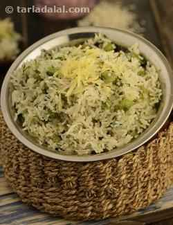 Cheese, Onion and Green Peas Pulao