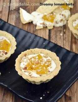 Creamy Lemon Tarts, Eggless