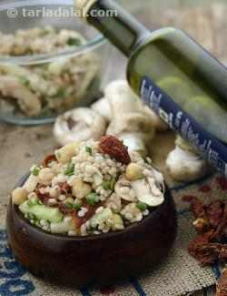 Chick Pea, Mushroom and Barley Salad with Balsamic Dressing