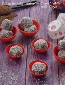 Chocolate Coconut Balls with Khoya