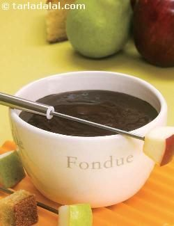 Chocolate Fondue ( Microwave Recipe )